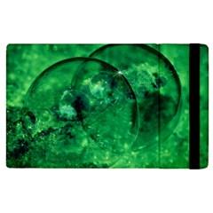 Green Bubbles Apple Ipad 3/4 Flip Case by Siebenhuehner