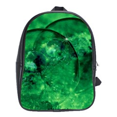 Green Bubbles School Bag (xl) by Siebenhuehner