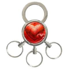 Love 3 Ring Key Chain by Siebenhuehner