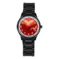 Love Sport Metal Watch (black) by Siebenhuehner