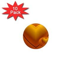 Love 1  Mini Button Magnet (10 Pack) by Siebenhuehner