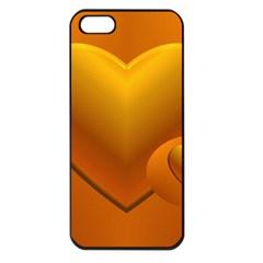 Love Apple Iphone 5 Seamless Case (black) by Siebenhuehner