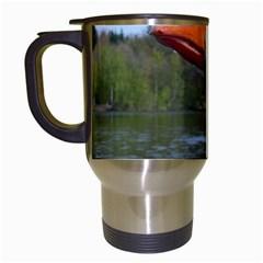 Geese Travel Mug (white) by Siebenhuehner