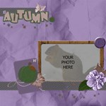 Purplicious Autumn 1 - ScrapBook Page 12  x 12