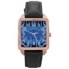 Design Rose Gold Leather Watch  by Siebenhuehner
