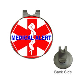Medical Alert Health Identification Sign Hat Clip With Golf Ball Marker by youshidesign