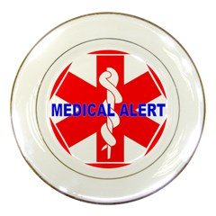 Medical Alert Health Identification Sign Porcelain Display Plate by youshidesign