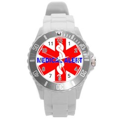 Medical Alert Health Identification Sign Plastic Sport Watch (large) by youshidesign