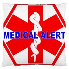 Medical Alert Health Identification Sign Large Cushion Case (single Sided)