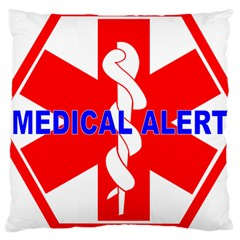 Medical Alert Health Identification Sign Large Cushion Case (two Sided)  by youshidesign