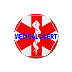 Medical Alert Health Identification Sign Drink Coaster (round) by youshidesign