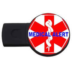 Medical Alert Health Identification Sign 2gb Usb Flash Drive (round) by youshidesign