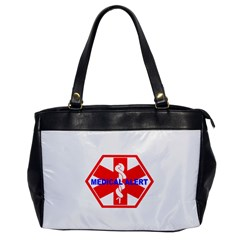 Medical Alert Health Identification Sign Oversize Office Handbag (one Side) by youshidesign
