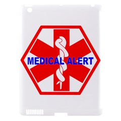 MEDICAL ALERT HEALTH IDENTIFICATION SIGN Apple iPad 3/4 Hardshell Case (Compatible with Smart Cover)