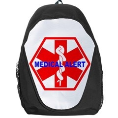 MEDICAL ALERT HEALTH IDENTIFICATION SIGN Backpack Bag