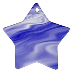 Wave Star Ornament (two Sides) by Siebenhuehner