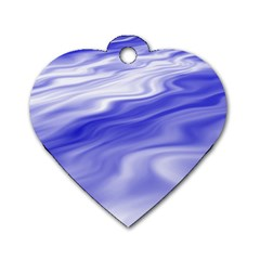 Wave Dog Tag Heart (two Sided) by Siebenhuehner