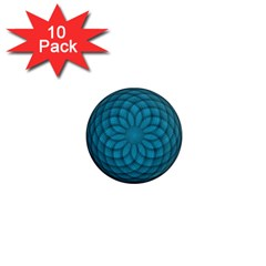 Spirograph 1  Mini Button Magnet (10 Pack)