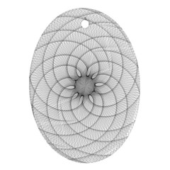 Spirograph Oval Ornament by Siebenhuehner
