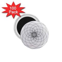 Spirograph 1 75  Button Magnet (100 Pack) by Siebenhuehner
