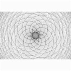 Spirograph Canvas 24  X 36  (unframed) by Siebenhuehner
