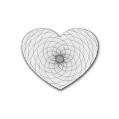Spirograph Drink Coasters (heart) by Siebenhuehner