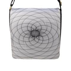 Spirograph Flap Closure Messenger Bag (large) by Siebenhuehner