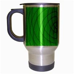 Spirograph Travel Mug (silver Gray) by Siebenhuehner