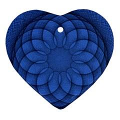 Spirograph Heart Ornament by Siebenhuehner