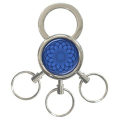 Spirograph 3 Ring Key Chain by Siebenhuehner