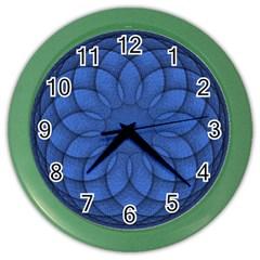 Spirograph Wall Clock (color) by Siebenhuehner
