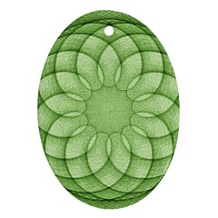 Spirograph Oval Ornament (two Sides) by Siebenhuehner