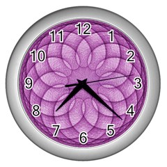 Spirograph Wall Clock (silver) by Siebenhuehner