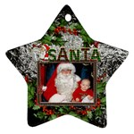 Santa Star Ornament (1 Sided) - Ornament (Star)