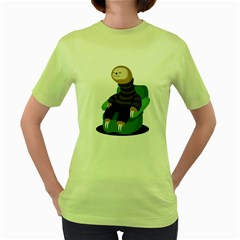 Sloth Womens  T-shirt (Green) by Contest1771913