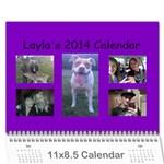 Laylas Calendar - Wall Calendar 11  x 8.5  (12-Months)