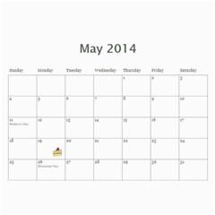 Laylas Calendar By Katy   Wall Calendar 11  X 8 5  (12 Months)   6e3v7lq8ro1i   Www Artscow Com May 2014