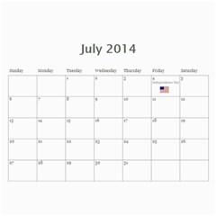Laylas Calendar By Katy   Wall Calendar 11  X 8 5  (12 Months)   6e3v7lq8ro1i   Www Artscow Com Jul 2014