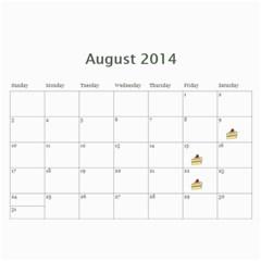 Laylas Calendar By Katy   Wall Calendar 11  X 8 5  (12 Months)   6e3v7lq8ro1i   Www Artscow Com Aug 2014