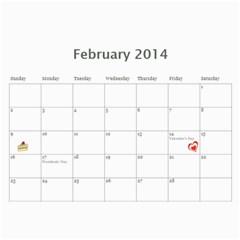 Laylas Calendar By Katy   Wall Calendar 11  X 8 5  (12 Months)   6e3v7lq8ro1i   Www Artscow Com Feb 2014
