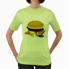Make Donald Womens  T-shirt (Green) by Contest1753604