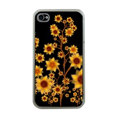 Sunflower Cheers Apple Iphone 4 Case (clear) by doodlelabel