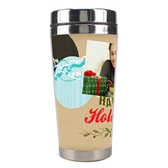 Christmas By Merry Christmas   Stainless Steel Travel Tumbler   5e54l1w78c7e   Www Artscow Com Left