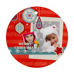 Merry Christmas By Merry Christmas   Round Ornament (two Sides)   2zmo18s3e71t   Www Artscow Com Front