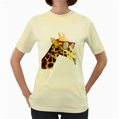 NEW WAVE GIRAF  Womens  T-shirt (Yellow) by Contest1767514