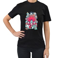 Monster Party Womens' T Shirt (black)