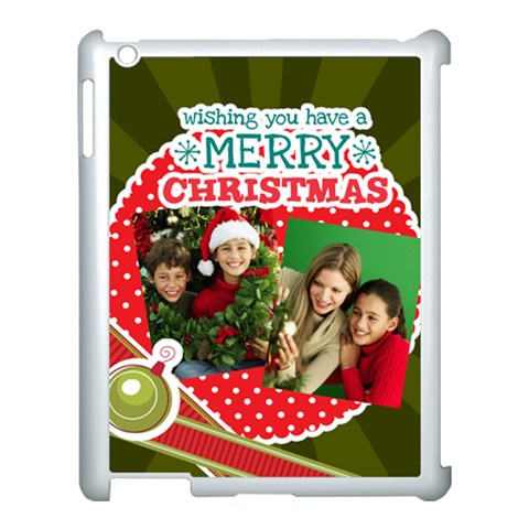 Merry Christmas By Merry Christmas   Apple Ipad 3/4 Case (white)   Cz31jkn9e7ho   Www Artscow Com Front