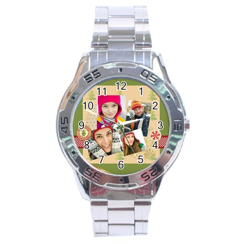 Merrry Christmas By Merry Christmas   Stainless Steel Analogue Watch   B3y06j747yky   Www Artscow Com Front