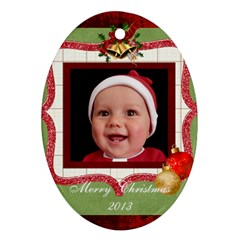 Christmas Ornament By Rose Huggett   Oval Ornament (two Sides)   5yi9ytwq7vk6   Www Artscow Com Front