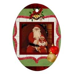 Christmas Ornament By Rose Huggett   Oval Ornament (two Sides)   5yi9ytwq7vk6   Www Artscow Com Back